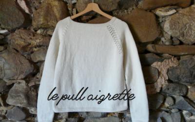 Le pull aigrette – notre kit tricot